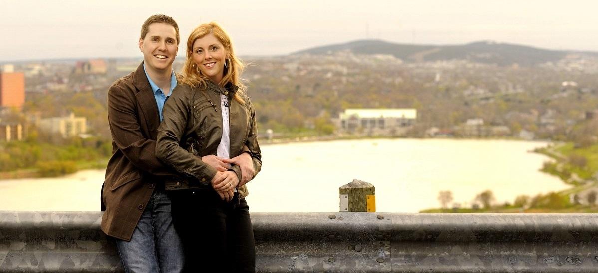 Adam and Dana, happy couple at Diamond Design