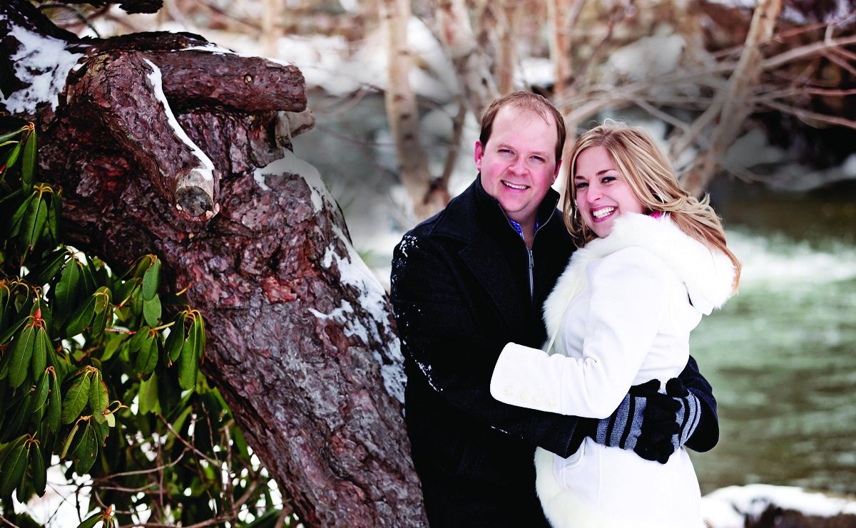 Dave and Lindsay, happy couples at Diamond Design