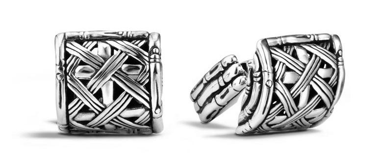 John Hardy silver cufflinks