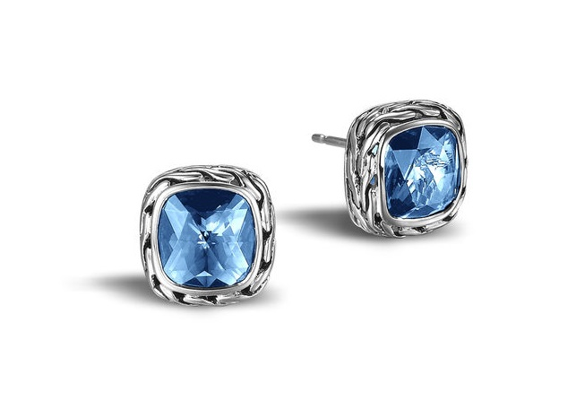 stud earrings available from John Hardy