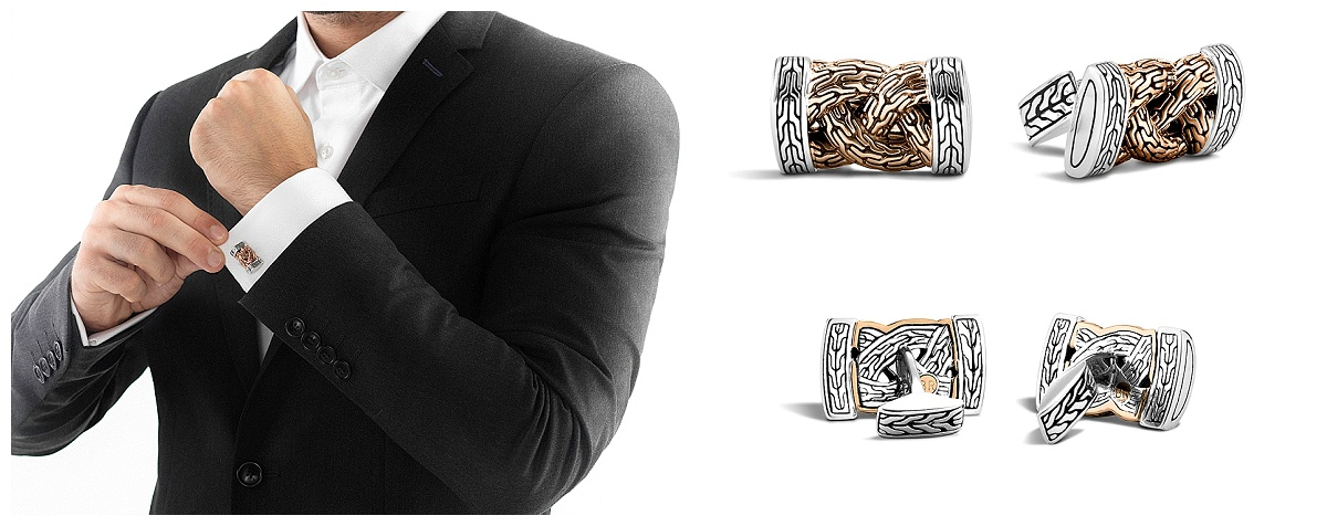 sterling silver and bronze cufflink available from Diamond Design
