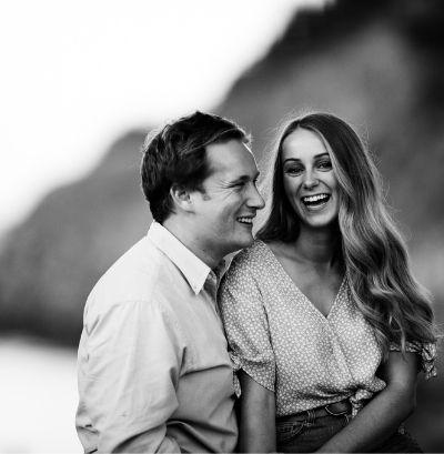 engaged couple at newfoundland waterfront