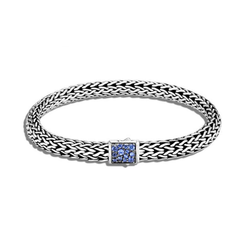 Classic Chain Blue Sapphire Icon Bracelet