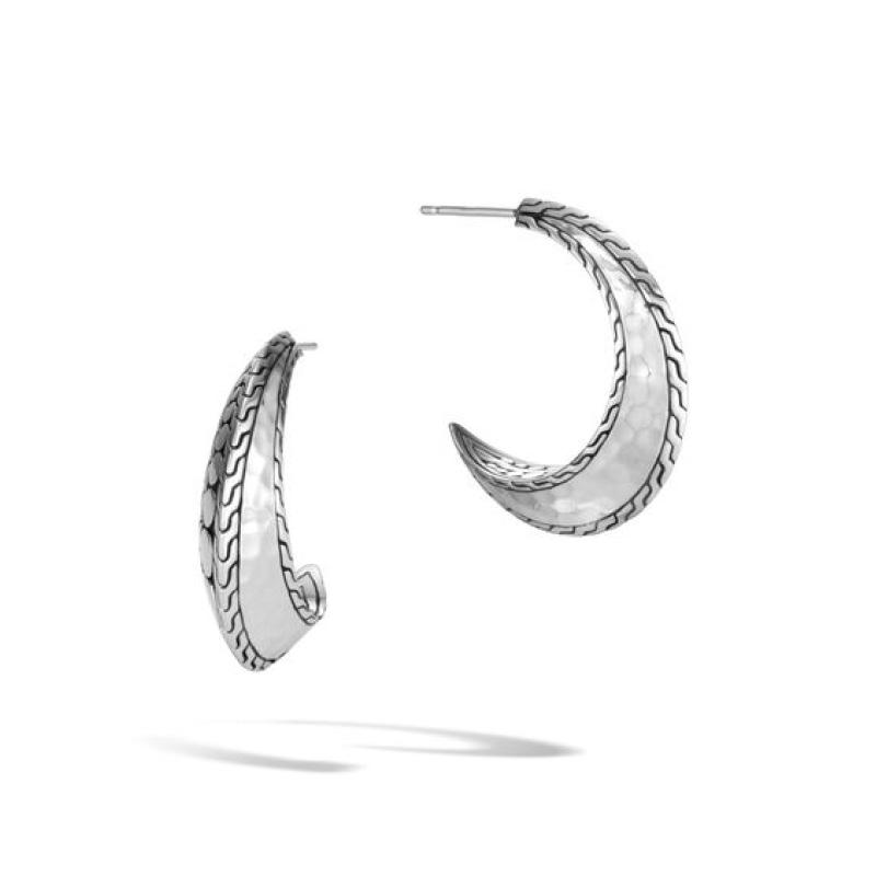 Dot Hammered Hoop Earring