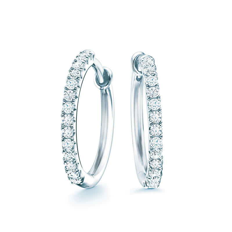 Birks Rosée du Matin|Small Diamond Hoop Earrings