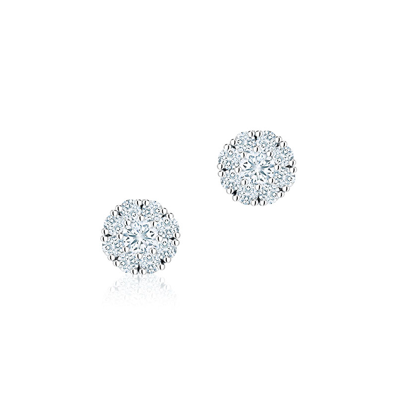 Birks Snowflake | Round Diamond Stud Earrings