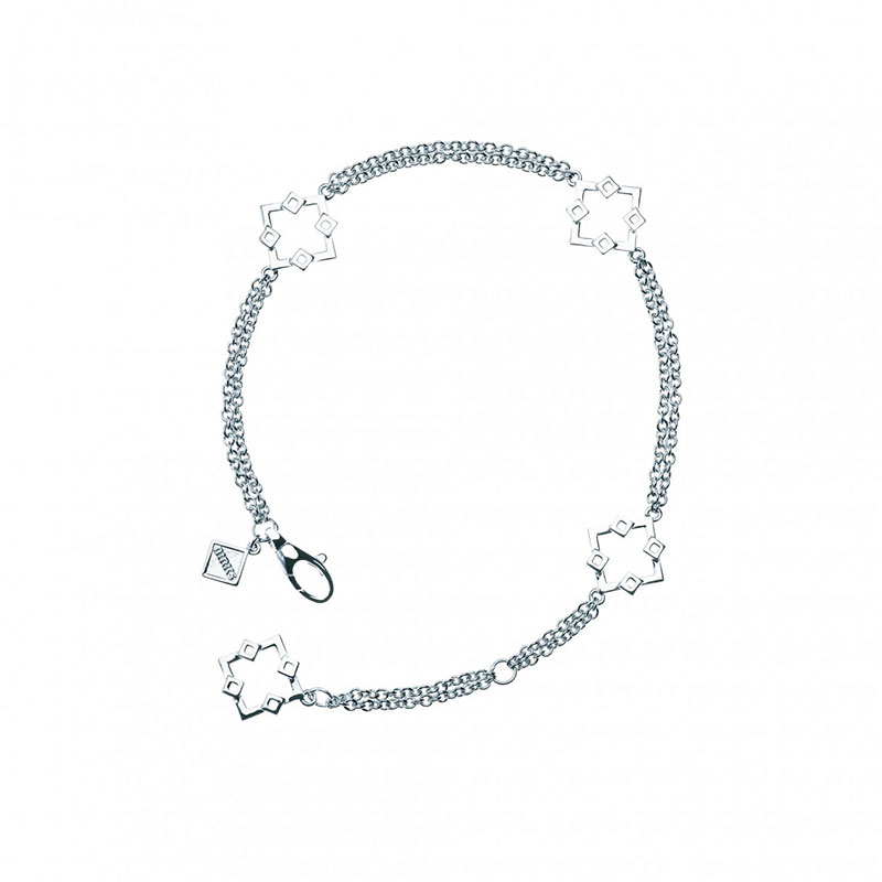 Birks Muse Silver Monogram Bracelet
