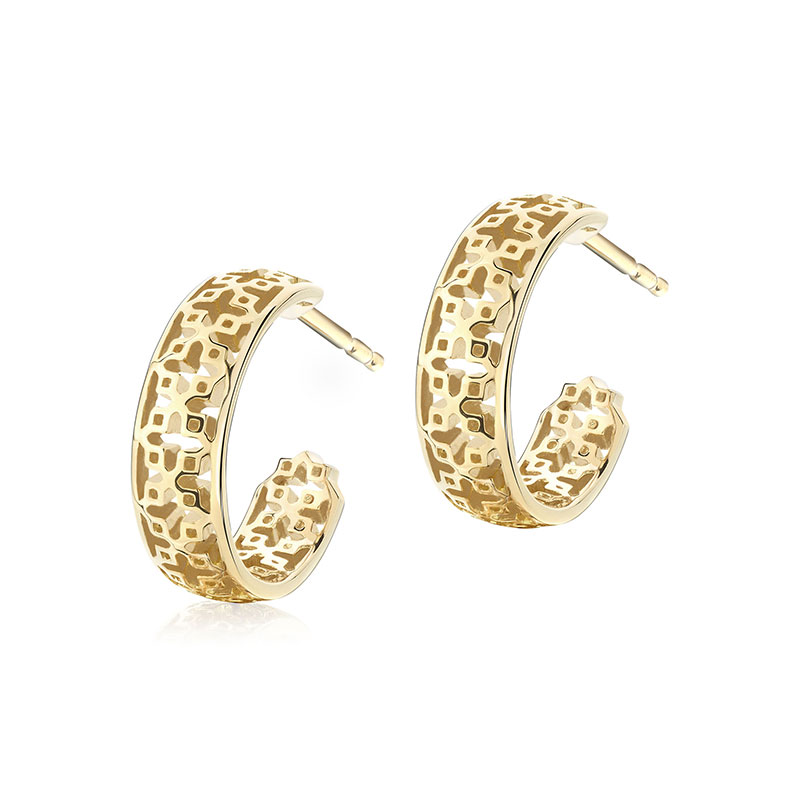 Birks Muse | 15MM Yellow Gold Pierced Hoop Earrings