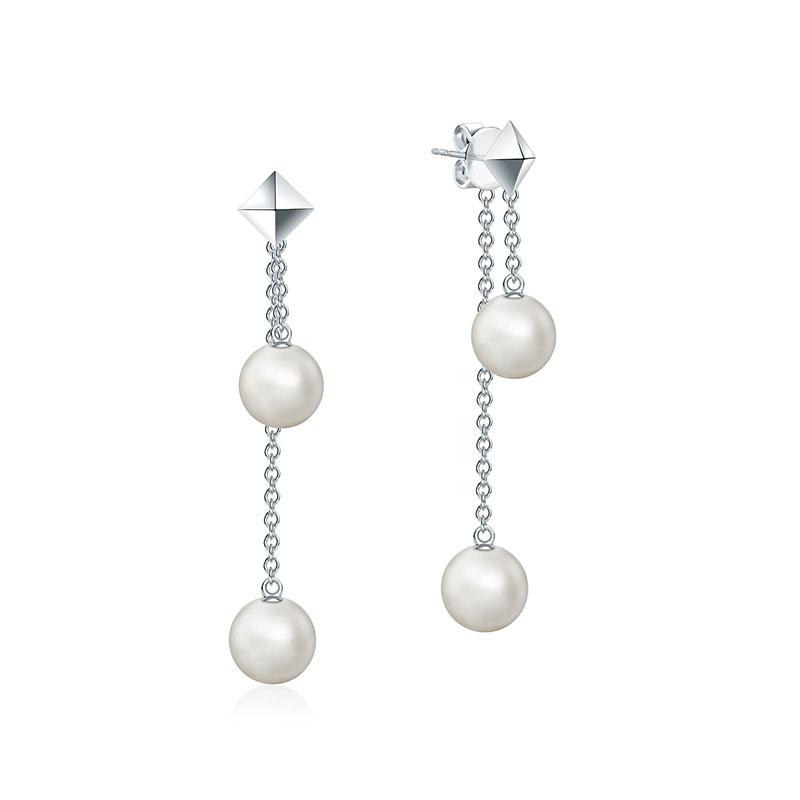 Birks Rock and Pearl Double Drop Earrings