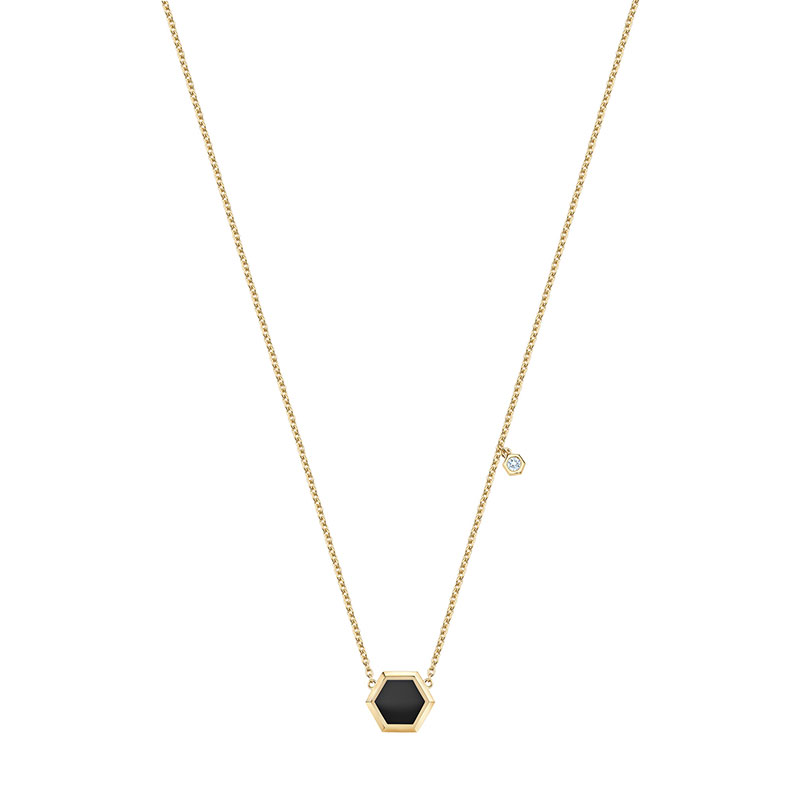 Birks Bee Chic | Onyx Pendant with Diamond Accent