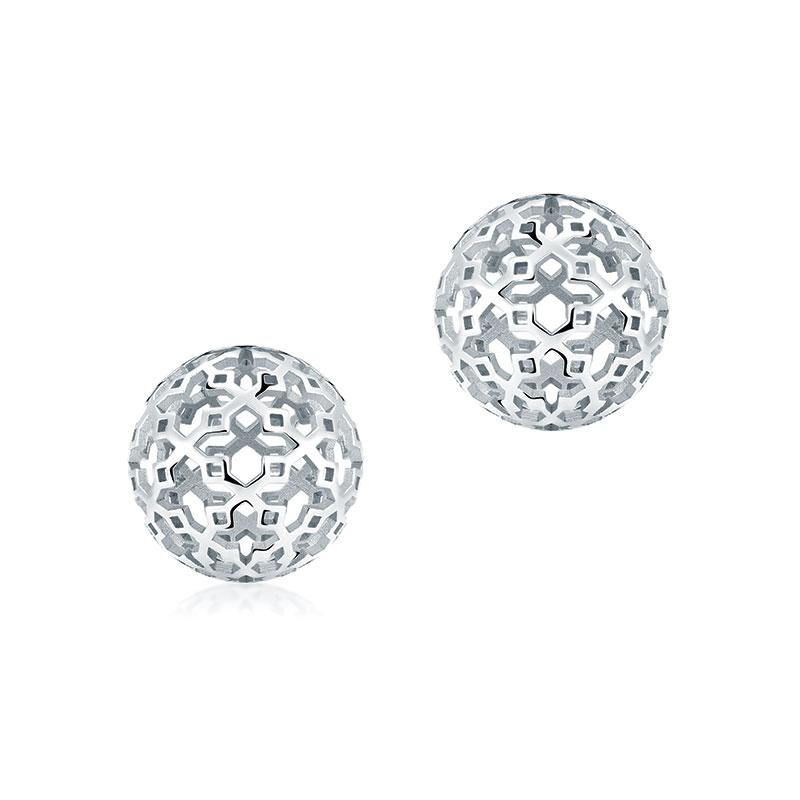 Birks Silver Muse 10MM Ball Stud Earrings