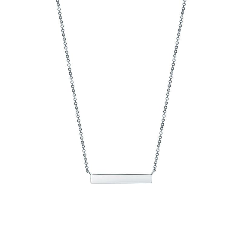 Birks Essentials | Silver Horizontal Bar Necklace
