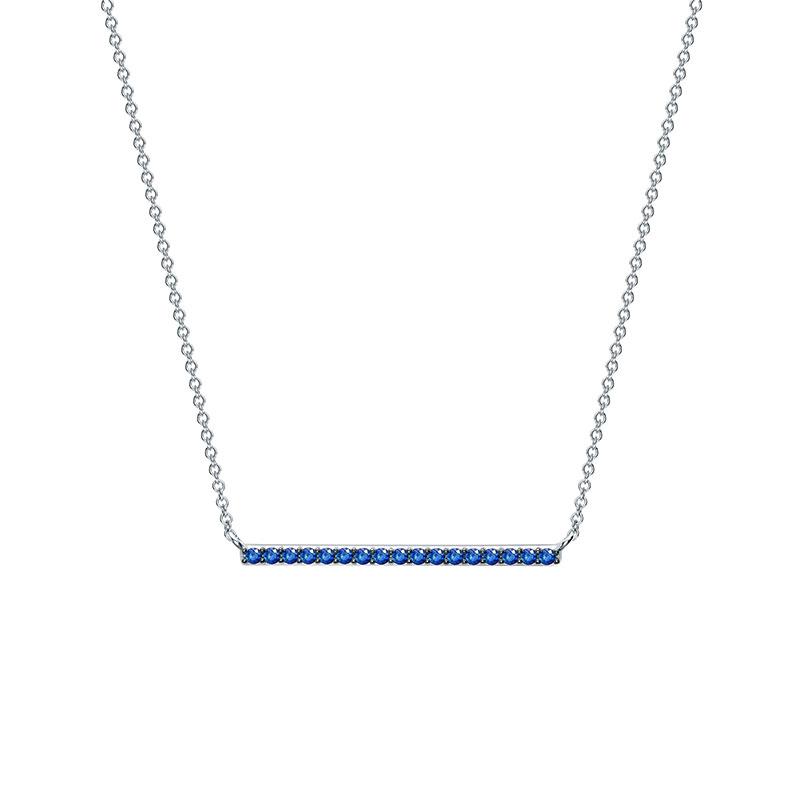 Birks Rosée du Matin| White Gold and Sapphire Horizontal Bar Pendant