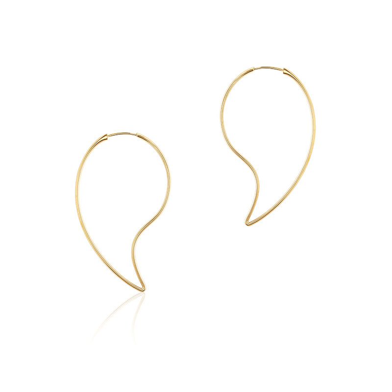 Birks Pétale | Large Yellow Gold Hoop Earrings