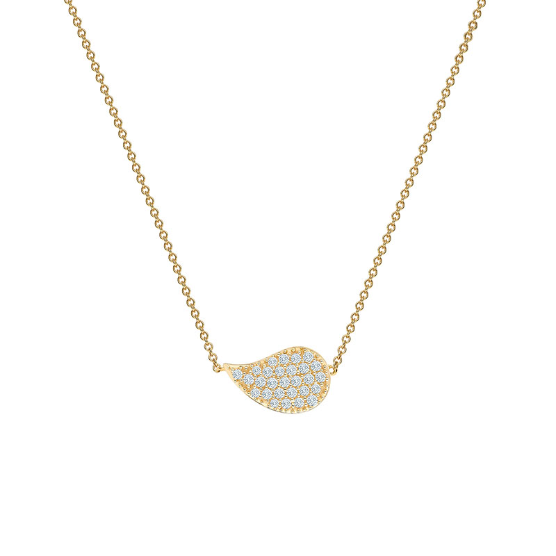 Birks Pétale | Yellow Gold and Diamond Necklace