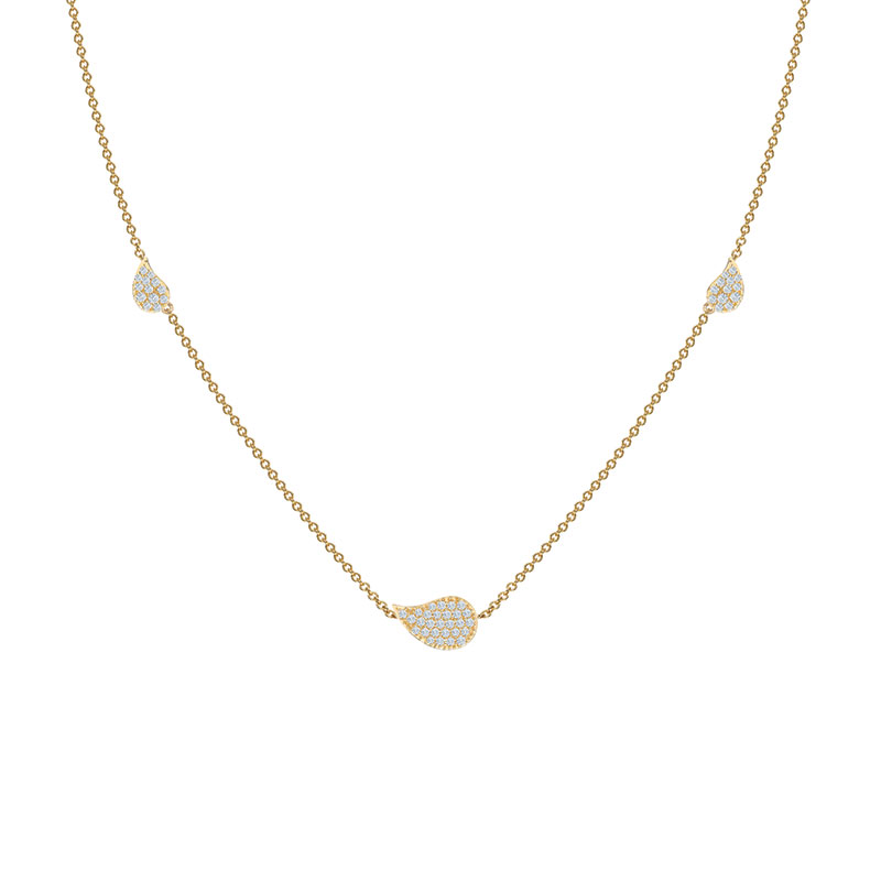 Birks Pétale | Yellow Gold and Diamond Station Necklace