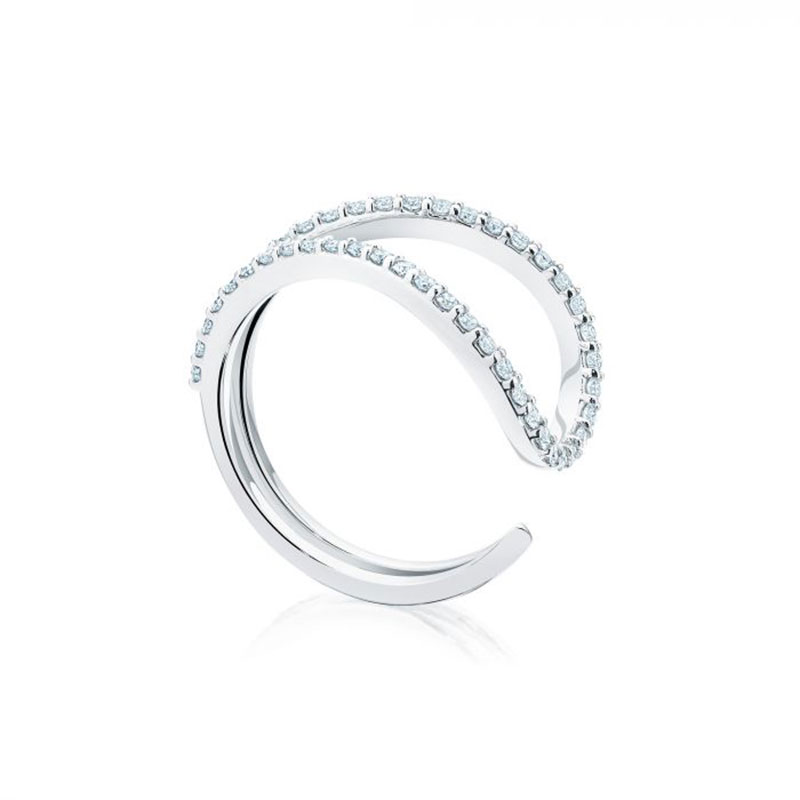 Birks Pétale | Single Diamond Ring in White Gold