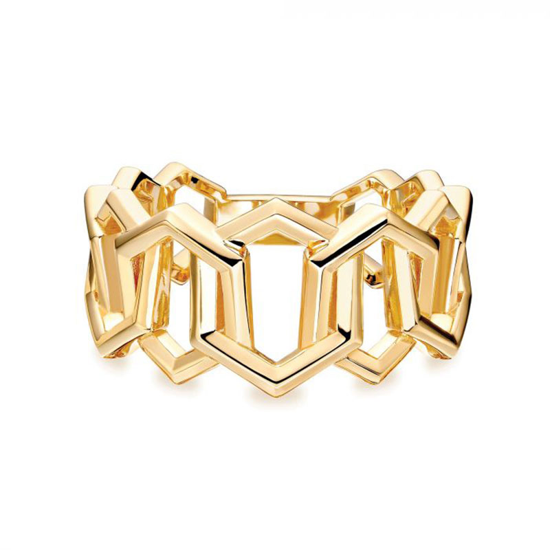 Birks Bee Chic | Bold Yellow Gold Link Ring