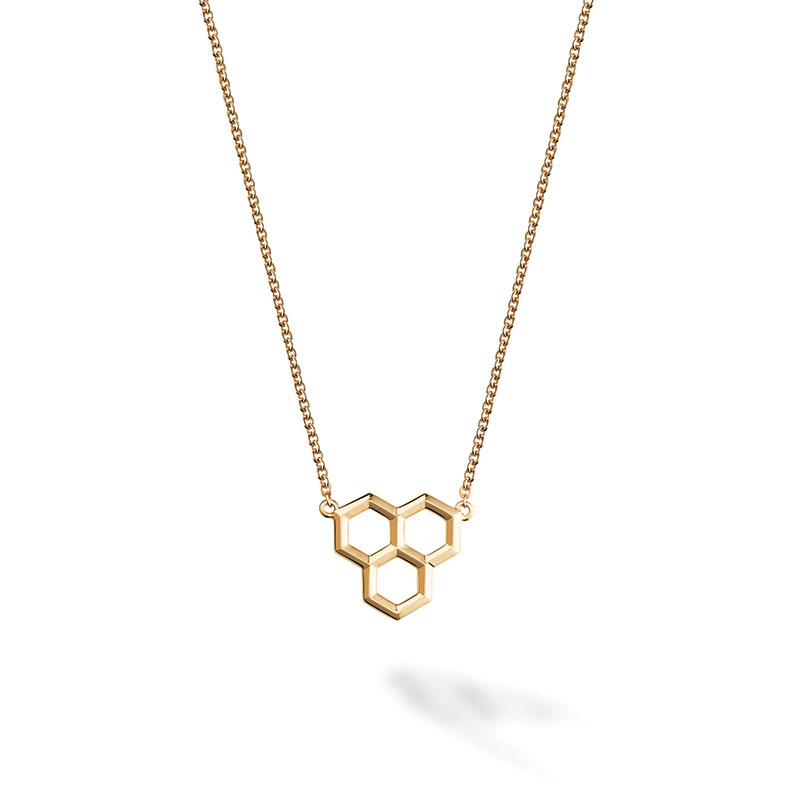 Birks Bee Chic | Yellow Gold Hexagons Pendant