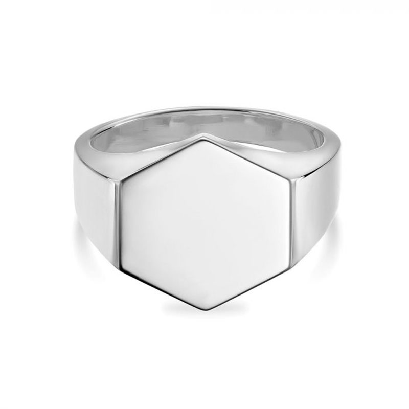 Birks Bee Chic | Silver Hexagon Signet Ring