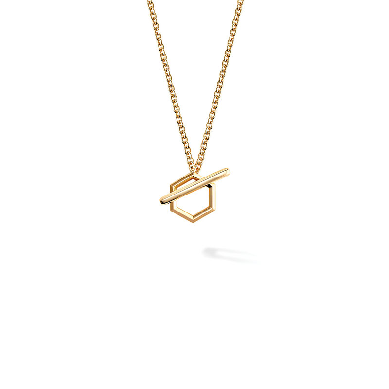 Birks Yellow Gold Toggle Necklace
