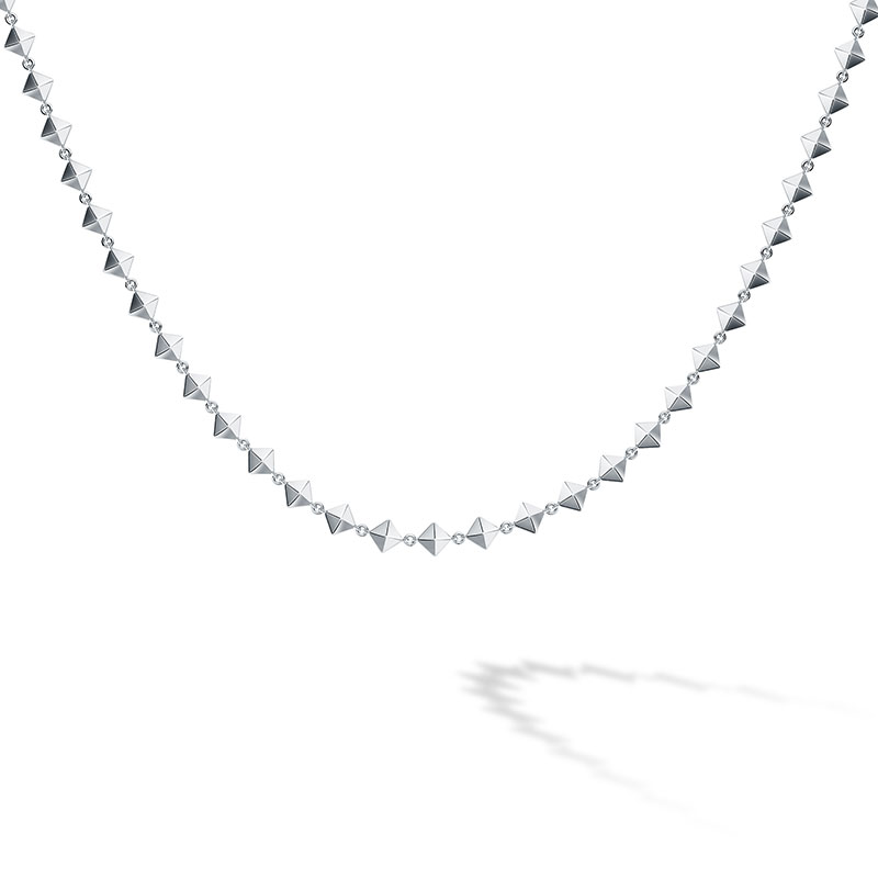 Birks Iconic | Silver Rock & Pearl Choker Necklace