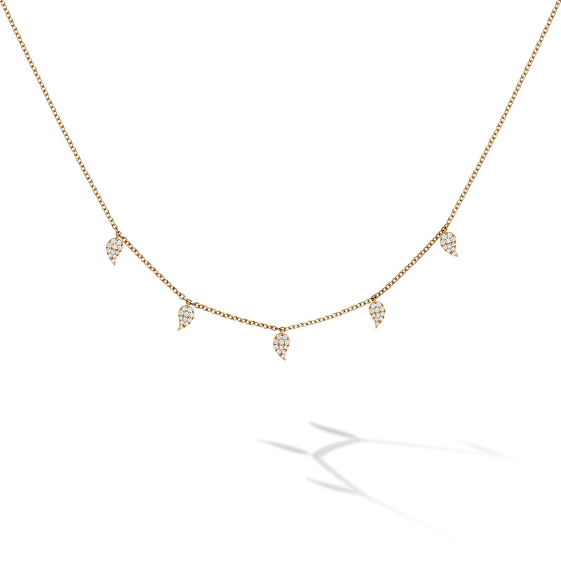 Birks Iconic | Yellow Gold and Diamond Pétale Choker Necklace