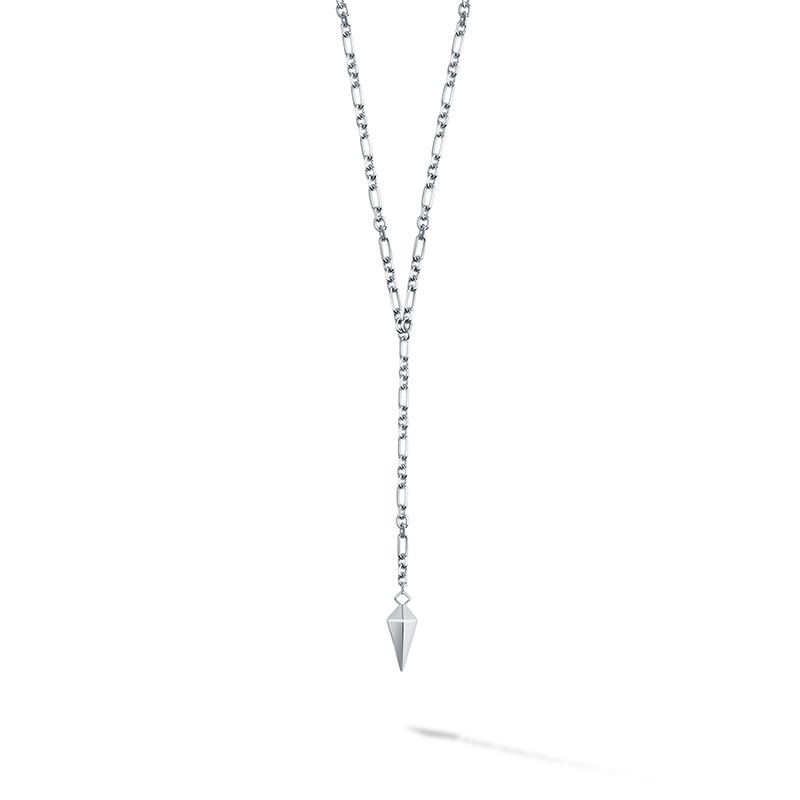 Birks Iconic | Silver Rock & Pearl Lariat Necklace