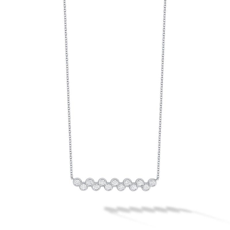 Birks Iconic | White Gold and Diamond Splash Bar Necklace