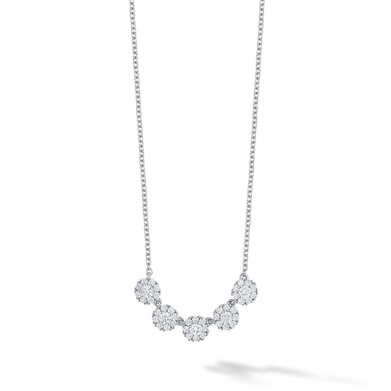Birks Iconic | White Gold and Diamond Snowflake Necklace