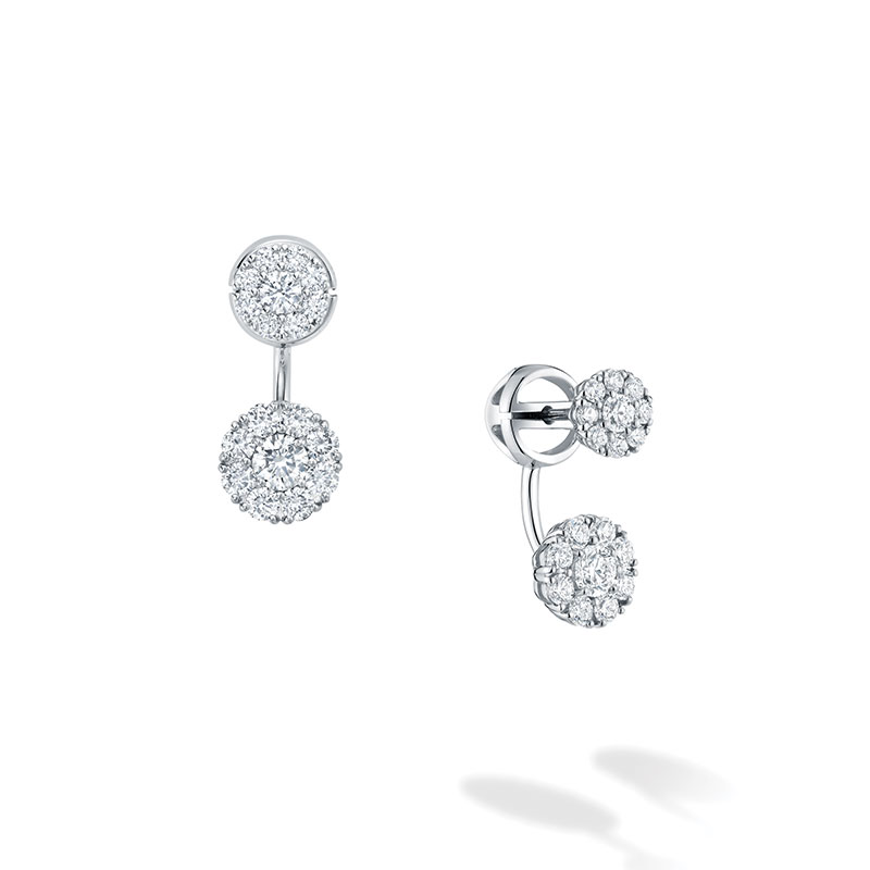 Birks Snowflake|Small Round Jacket Earrings