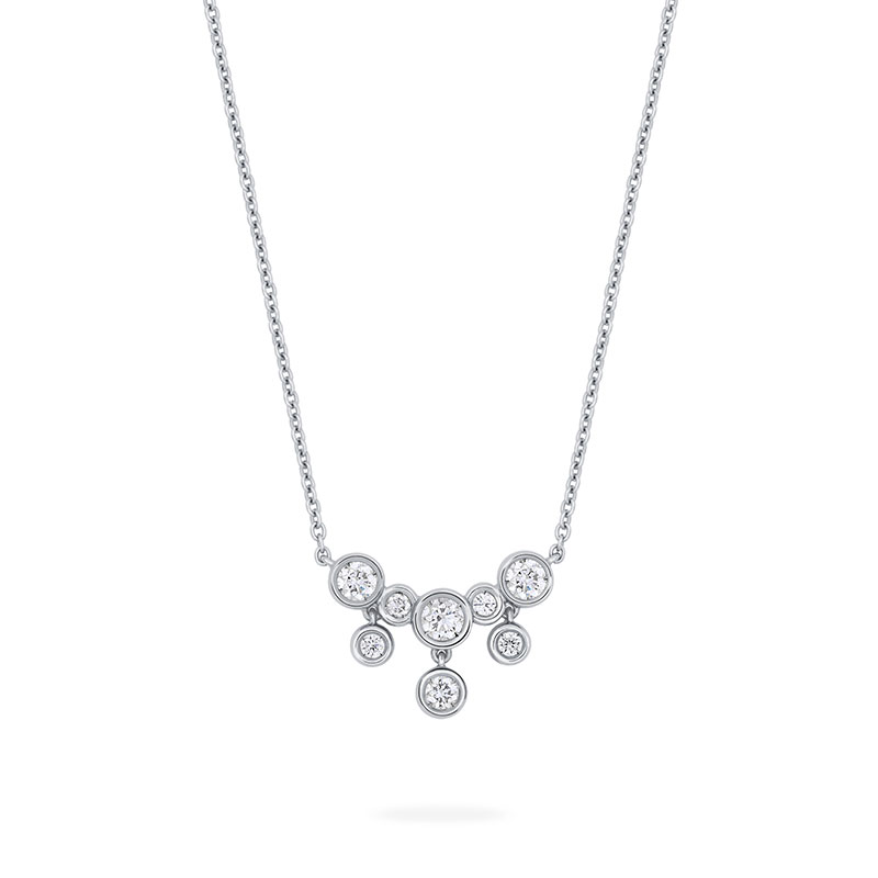 Diamond Small Drop Necklace | Birks Splash Collection