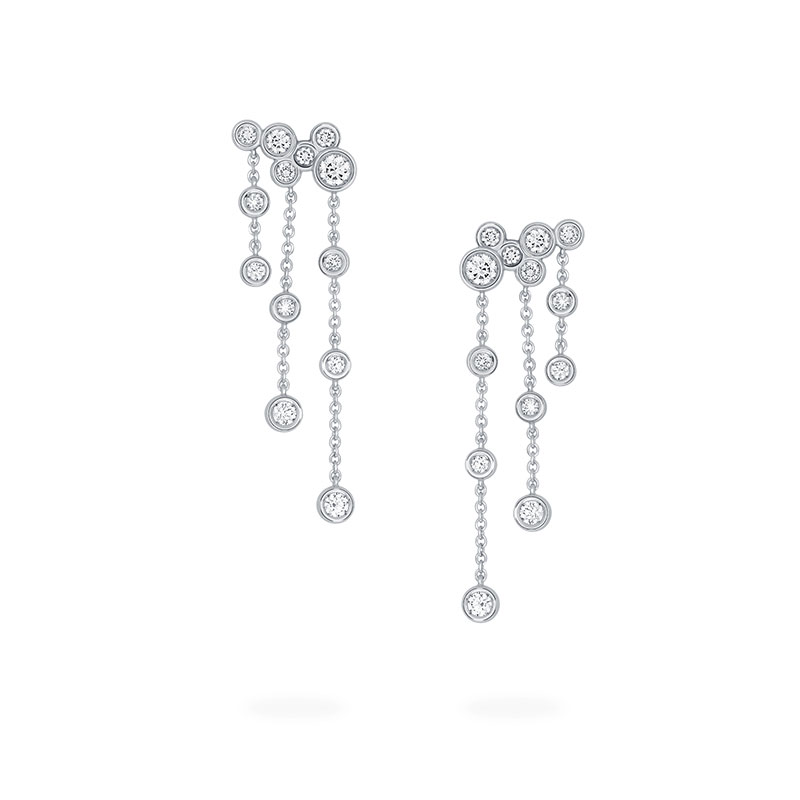 Diamond Cluster Drop Earrings | Birks Splash Collection