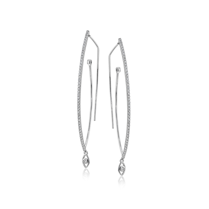 Simon G Elongated Hoop Earrings