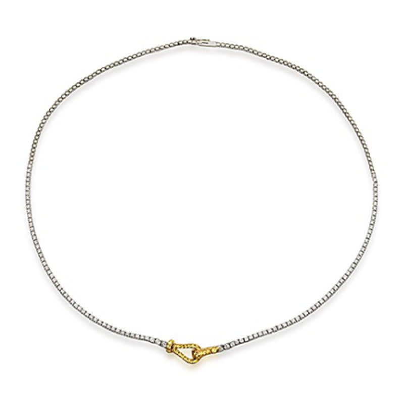 Simon G Diamond Buckle Necklace