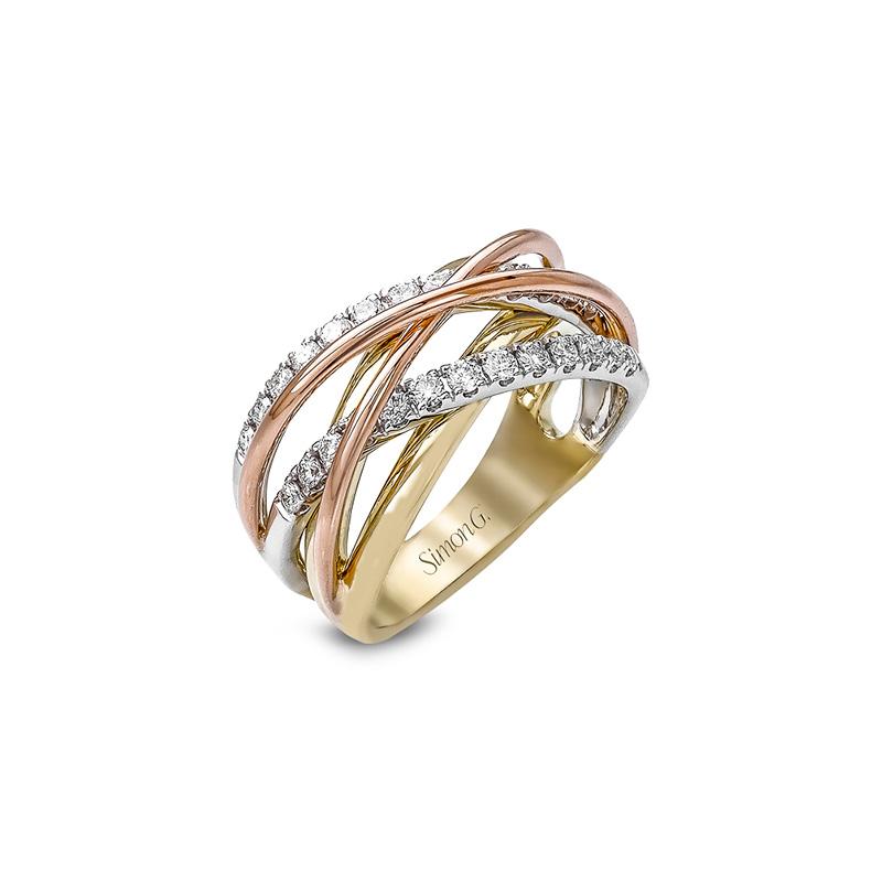 Simon G Tri Coloured Right Hand Ring