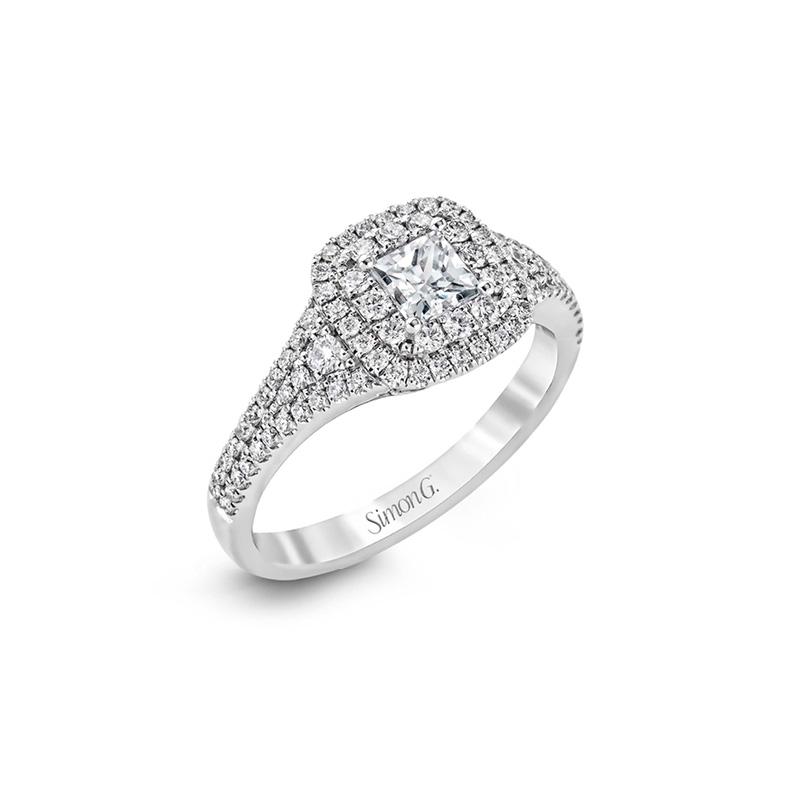 Simon G White Gold Engagement Ring
