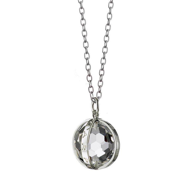 Monica Rich Kosann 'Carpe Diem' Rock Crystal on a 30 Inch Diamond Cut Chain