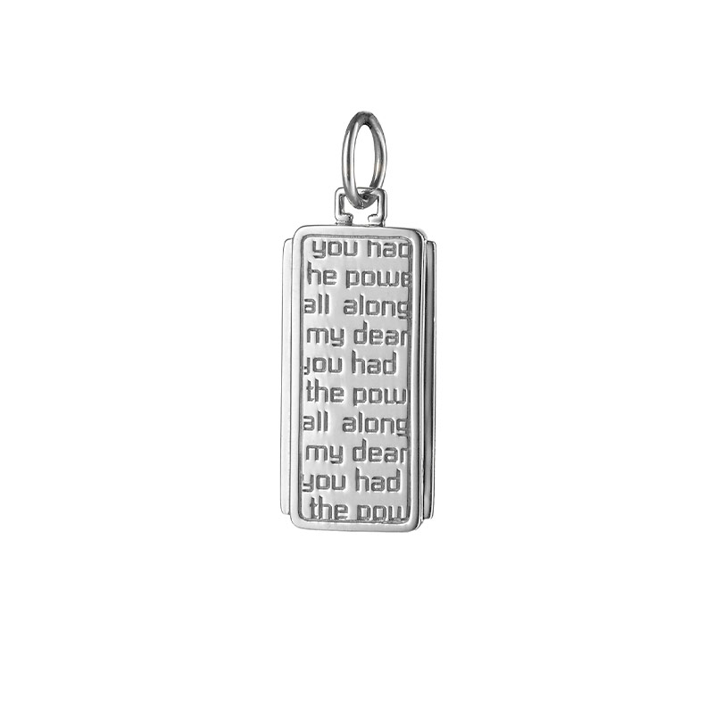 "Monica Rich Kosann Sterling Silver Dorothy Medallion with Quote, ""you had the power all along my dear"""