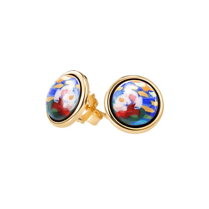 Hommage à Claude Monet Orangerie Mini Cabochon Stud Earrings