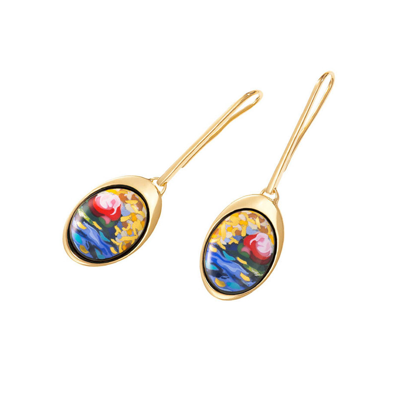 Hommage à Claude Monet Orangerie WaterDrop Earrings