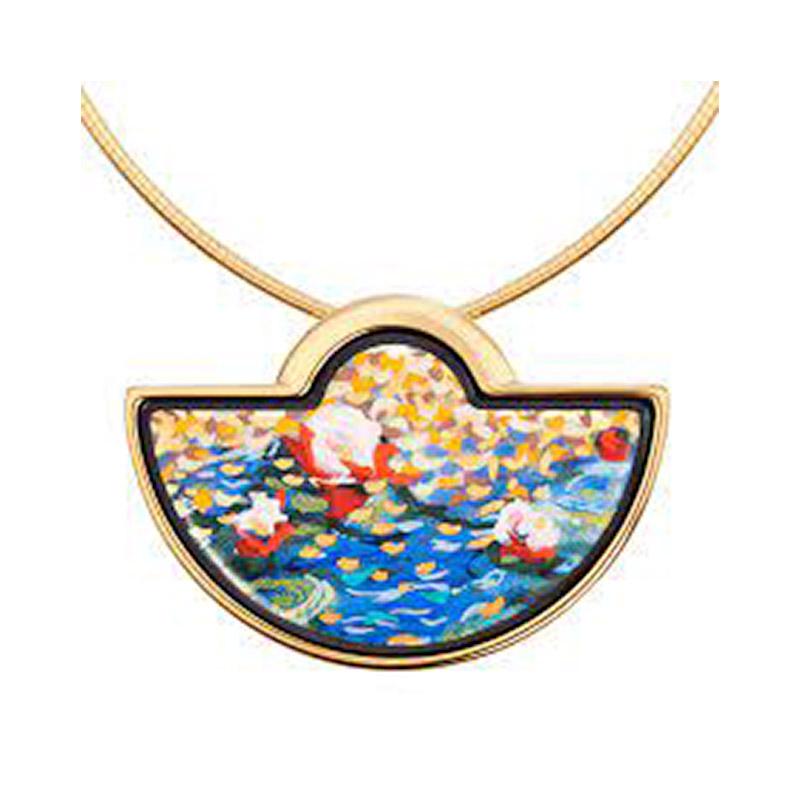 Hommage à Claude Monet Orangerie Half Moon Pendant