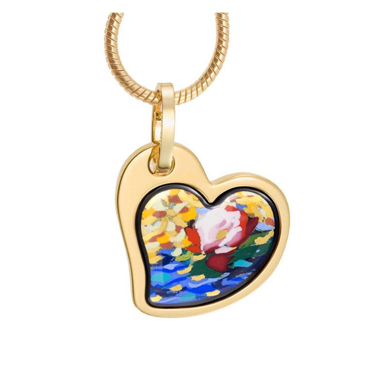 Hommage à Claude Monet Orangerie Rose Heart Pendant