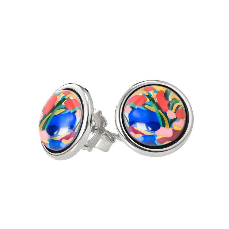 Hommage à Claude Monet Giverny Mini Cabochon Stud Earrings