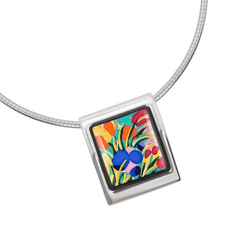 Hommage à Claude Monet Giverny Square Pendant