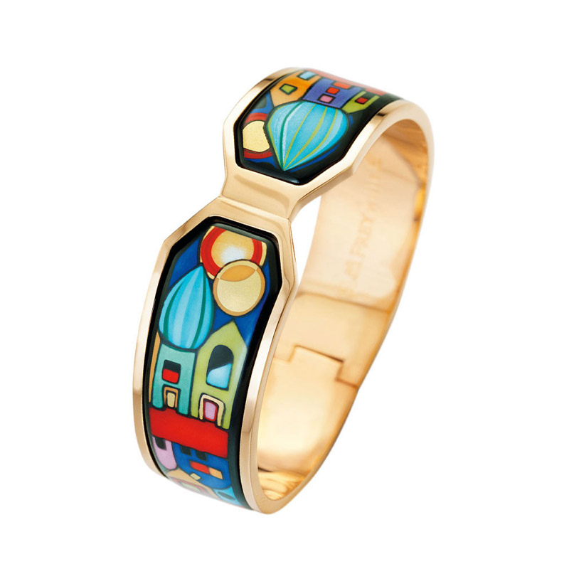 Hommage à Hundertwasser Street Rivers Contessa Wide Clasp Bangle