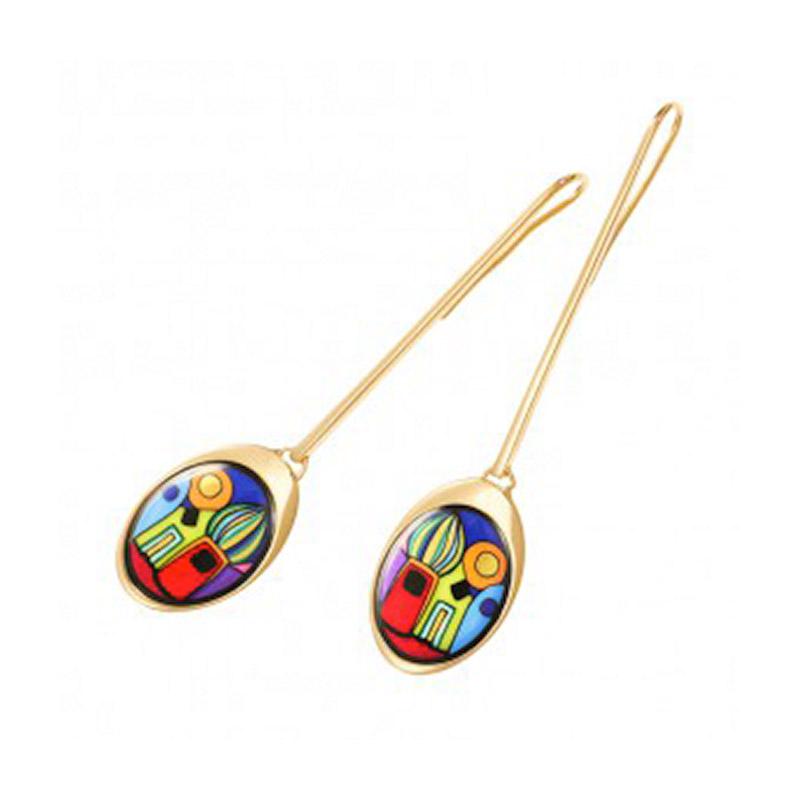 Hommage à Hundertwasser Street Rivers WaterDrop Earrings