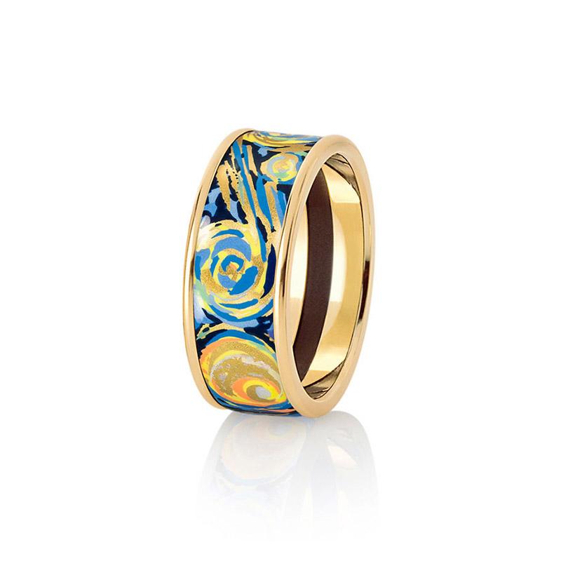 Hommage à Vincent Van Gogh Éternite Miss Ring 17.5MM
