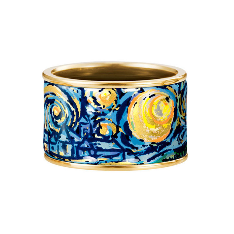 Hommage à Vincent Van Gogh Éternite Diva Ring 18.5MM