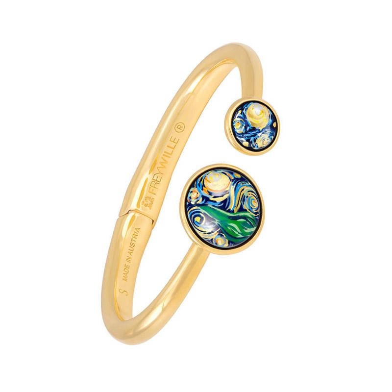 Hommage à Vincent Van Gogh Starry Night Éternite Clasp Spring Bracelet